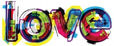 Poster Artistic word love