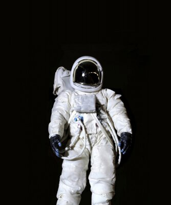 Poster Astronaut against a black background