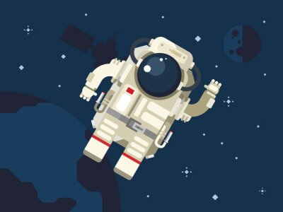 Poster Astronaut in Outer Space