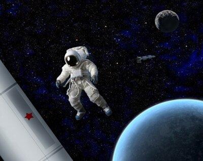 Poster Astronaut in space