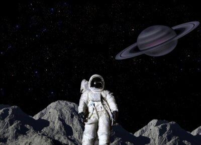 Poster Astronaut on lunar surface