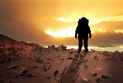 Poster Astronaut to Mars