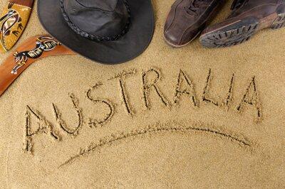 Poster Australia background