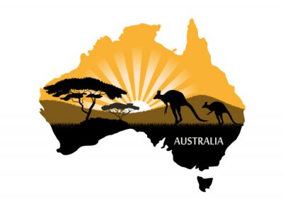 Poster Australian continent