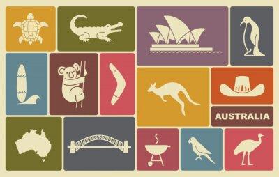 Poster Australian icons
