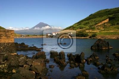 azores view of Porto Pim in Faial Island