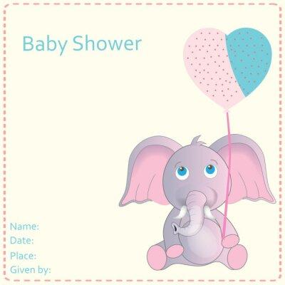 Poster Baby Shower Invitation