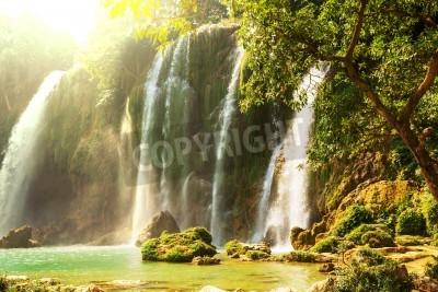 Poster Ban Gioc - Detian waterfall in  Vietnam