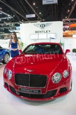 Poster BANGKOK - NOVEMBER 28 : Bentley Continental GT Speed on display at The 30th Thailand International Motor Expo 2013 in Bangkok, Thailand.