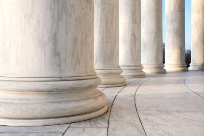 Poster Base of Ionic Columns at Jefferson Memorial in Washington DC