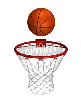 Poster Basket ball over the ring