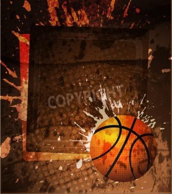Poster Basketball Advertising poster. Vector illustration