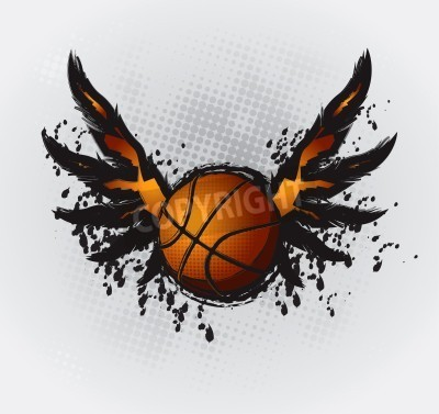 Poster Basketball Design Element 1 Vector Drawing