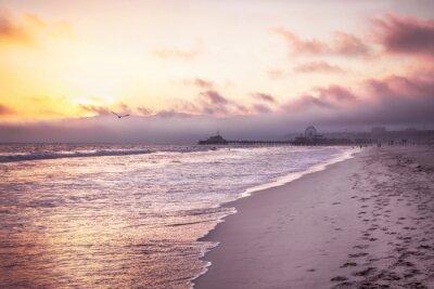 Poster Beautiful beach on sunset