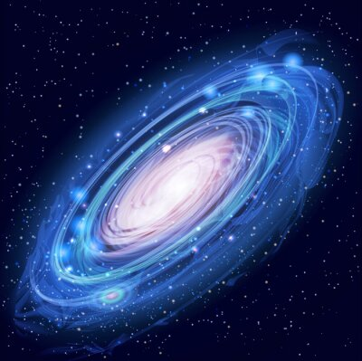 Poster Beautiful Glowing Vector Andromeda Galaxy