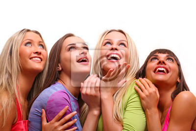 beautiful happy young women with a smile