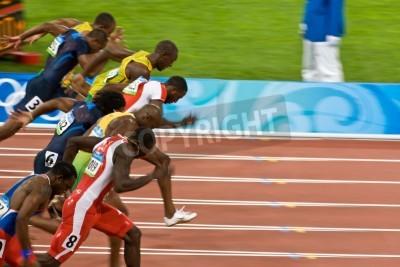 Poster Beijing, China Aug. 18 2008, Olympics, 100 meter sprint, Start of men