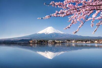 Poster Berg Fuji in Kawaguchiko Japan