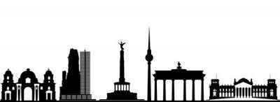 Poster berlin city skyline