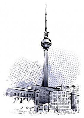 Poster Berlin Sketch