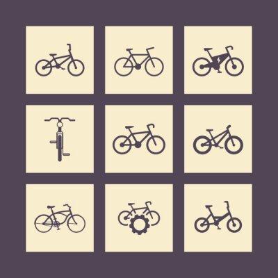 Poster bicycle, cycling, bike, electric bike, fat-bike square icons