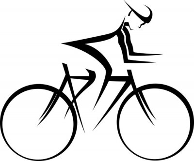 Poster Bicycle Racer Accent