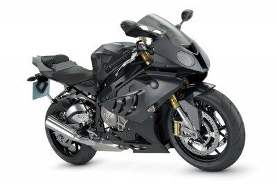 Poster Black sport motorcycle