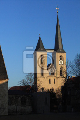 Poster Blick vom Domlatz zur Martinikirche in Halberstadt