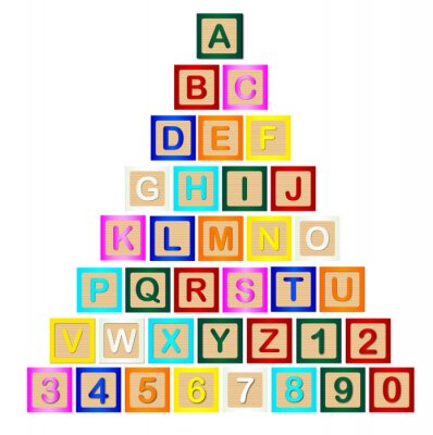 Poster Block Letter Pyramid