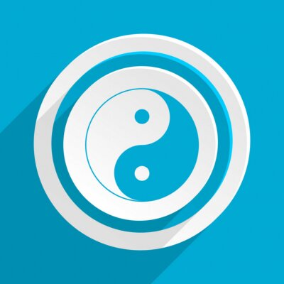 Poster blue flat vector icon