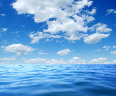 Poster Blue sea water