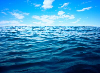 Poster Blue sea water surface