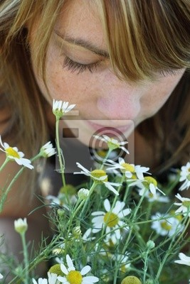 blumen riechen
