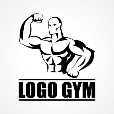 Poster Bodybuilder Icon or Symbol