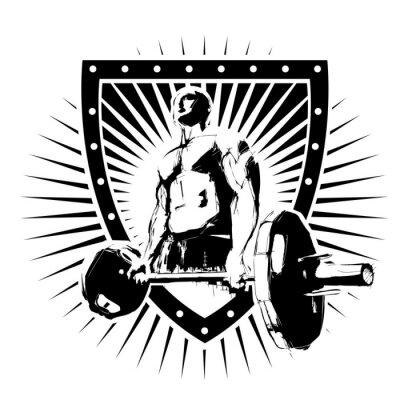 Poster bodybuilder shield