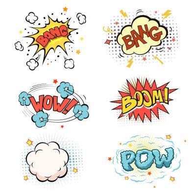 Poster Boom. Comic book explosion set