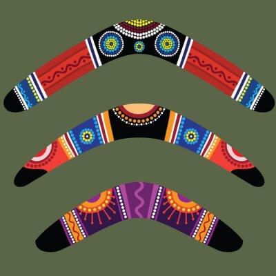 Poster Boomerangs with aboriginal design