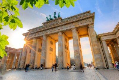 Poster Brandenburg gate at sunset