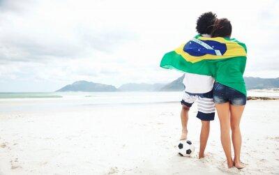 Poster Brasil soccer fans