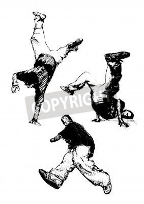 Poster breakdancer trio