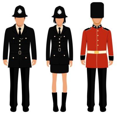 Poster  british guard, english people, uk policeman