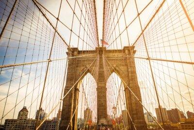 Poster Brooklyn Bridge and Manhattan skyline