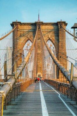 Poster Brooklyn bridge in New York City