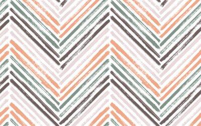Poster Brush stroke chevron zig zag seamless pattern.
