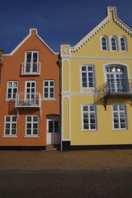Poster Bunte Häuser in Sonderburg