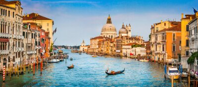 Poster Canal Grande panorama at sunset, Venice, Italy