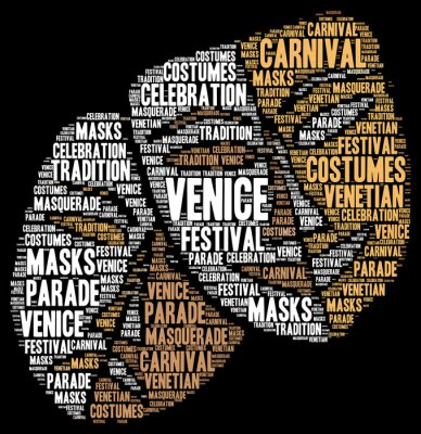 Poster Carnival of Venice in Italy word cloud