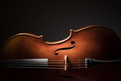 Poster Cello silhouette