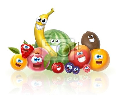 cheerful fruit group