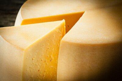 Poster Cheese. Macro
